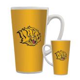 Full Color Latte Mug 17oz-Golden Lion Head