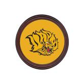 Round Coaster Frame w/Insert-Golden Lion Head