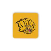 Hardboard Coaster w/Cork Backing-Golden Lion Head