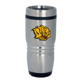 Rolling Ridges Silver Stainless Tumbler-Golden Lion Head