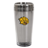 Solano Acrylic Silver Tumbler 16oz-Golden Lion Head