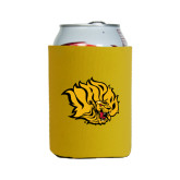 Neoprene Gold Can Holder-Golden Lion Head