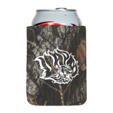 Collapsible Mossy Oak Camo Can Holder-Golden Lion Head
