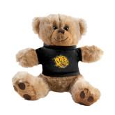 Plush Big Paw 8 1/2 inch Brown Bear w/Black Shirt-Golden Lion Head