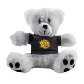 Plush Big Paw 8 1/2 inch White Bear w/Black Shirt-Golden Lion Head