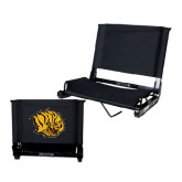 Stadium Chair Black-Golden Lion Head