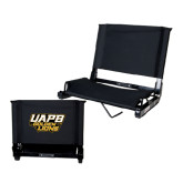 Stadium Chair Black-UAPB Golden Lions Stacked