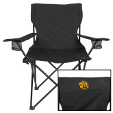 Deluxe Black Captains Chair-Golden Lion Head