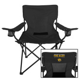 Deluxe Black Captains Chair-University of Arkansas Pine Bluff Golden Lions