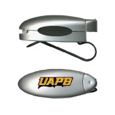 Silver Bullet Clip Sunglass Holder-UAPB Word Mark