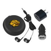 3 in 1 Black Audio Travel Kit-Golden Lion Head