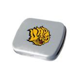 Silver Rectangular Peppermint Tin-Golden Lion Head