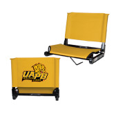 Stadium Chair Gold-UAPB Lion Head Stacked