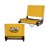 Stadium Chair Gold-UAPB Golden Lions Stacked