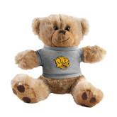 Plush Big Paw 8 1/2 inch Brown Bear w/Grey Shirt-Golden Lion Head