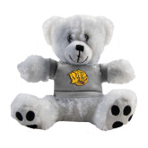 Plush Big Paw 8 1/2 inch White Bear w/Grey Shirt-Golden Lion Head