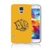 Galaxy S5 Phone Case-Golden Lion Head