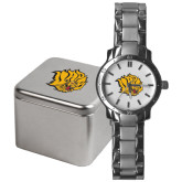 Mens Stainless Steel Fashion Watch-Golden Lion Head