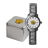 Ladies Stainless Steel Fashion Watch-Golden Lion Head