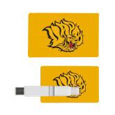 Card USB Drive 4GB-Golden Lion Head
