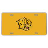 License Plate-Golden Lion Head