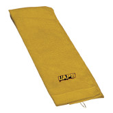 Gold Golf Towel-UAPB Word Mark