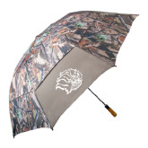 58 Inch Hunt Valley Camo Umbrella-Golden Lion Head