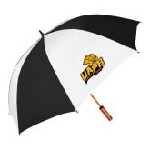 62 Inch Black/White Umbrella-UAPB Lion Head Stacked