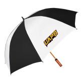 62 Inch Black/White Umbrella-UAPB Word Mark