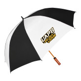 62 Inch Black/White Umbrella-UAPB Golden Lions Stacked