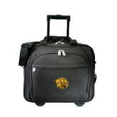 Embassy Plus Rolling Black Compu Brief-Golden Lion Head