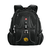 Wenger Swiss Army Mega Black Compu Backpack-Golden Lion Head