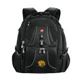 Wenger Swiss Army Mega Black Compu Backpack-Golden Lion Head