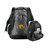 Wenger Swiss Army Tech Charcoal Compu Backpack-Golden Lion Head