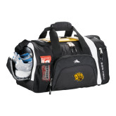 High Sierra Black 22 Inch Garrett Sport Duffel-Golden Lion Head