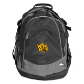 High Sierra Black Titan Day Pack-Golden Lion Head