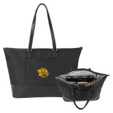 Stella Black Computer Tote-Golden Lion Head