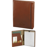 Cutter & Buck Chestnut Leather Writing Pad-Physical Therapy Debossed