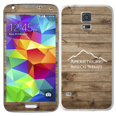 Galaxy S5 Skin-Wood Background Graphic