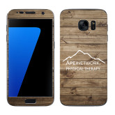 Samsung Galaxy S7 Skin-Wood Background Graphic