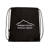 Black Drawstring Backpack-Physical Therapy