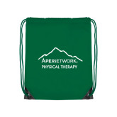 Kelly Green Drawstring Backpack-Physical Therapy