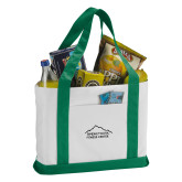 Contender White/Green Canvas Tote-Fitness Center
