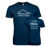 Next Level SoftStyle Navy T Shirt-Physical Therapy