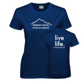 Ladies Navy T Shirt-Physical Therapy
