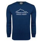 Navy Long Sleeve T Shirt-Physical Therapy