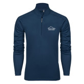Syntrel Navy Interlock 1/4 Zip-Physical Therapy