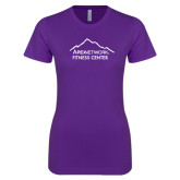 Next Level Ladies SoftStyle Junior Fitted Purple Tee-Fitness Center