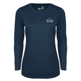 Ladies Syntrel Performance Navy Longsleeve Shirt-Physical Therapy