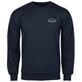 Navy Fleece Crew-Fitness Center